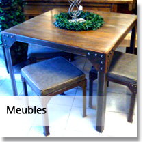 Table métallique OHREL menu